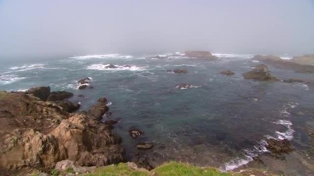 Overcast Sky With Beach : Stock Video