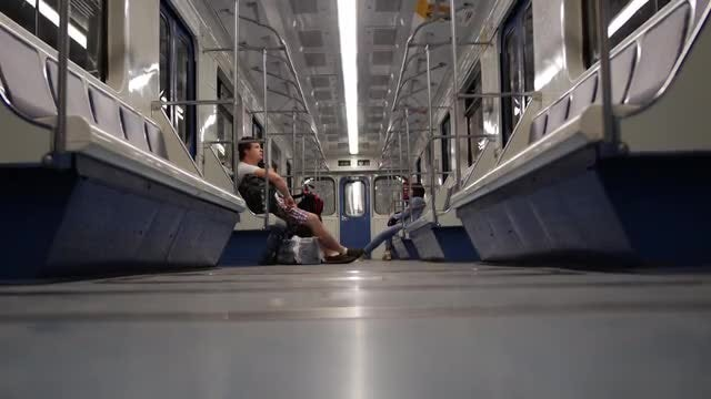 Passengers In A Subway Car: Stock Video
