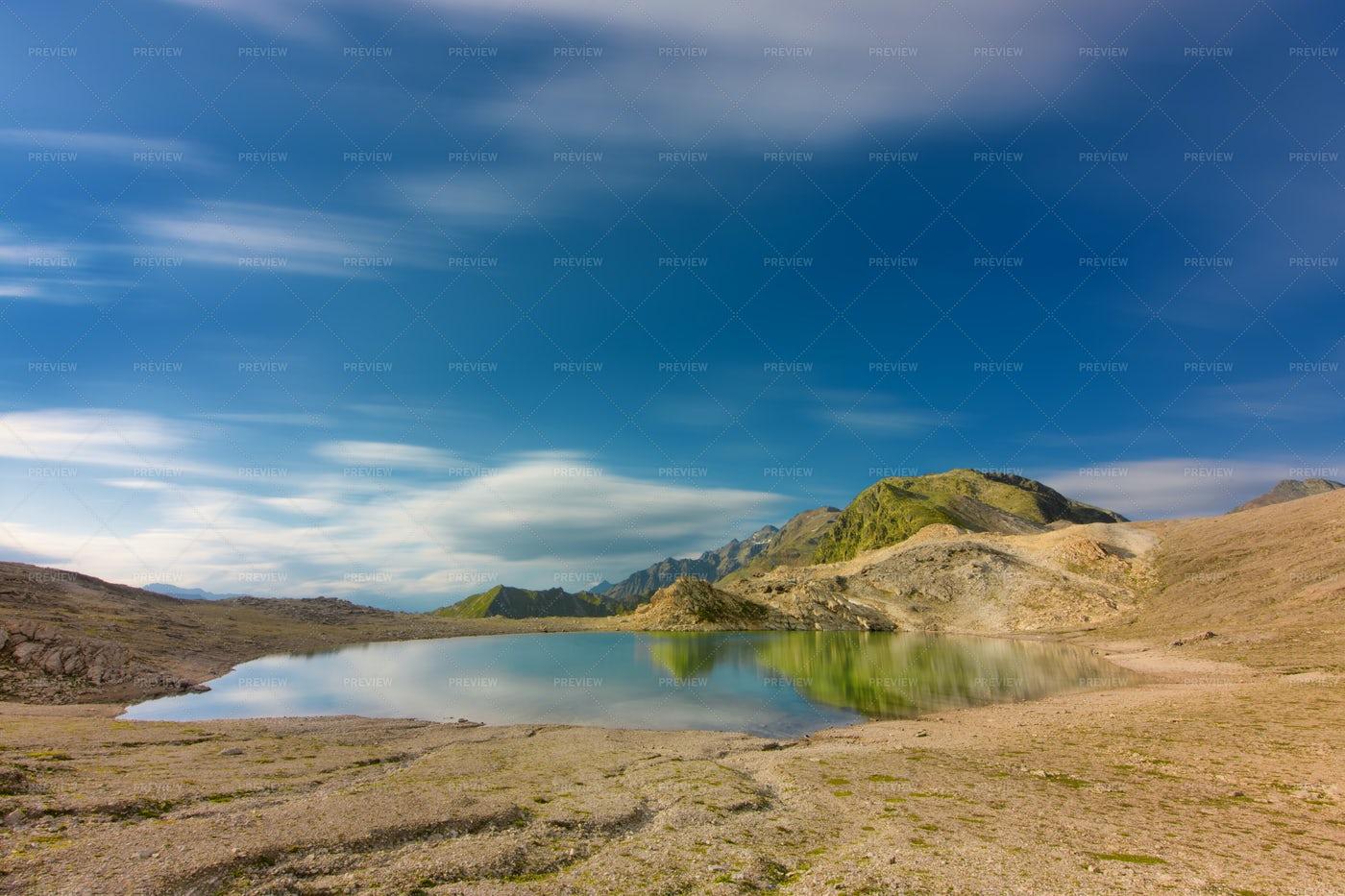 Isolated Alpine Lake: Stock Photos