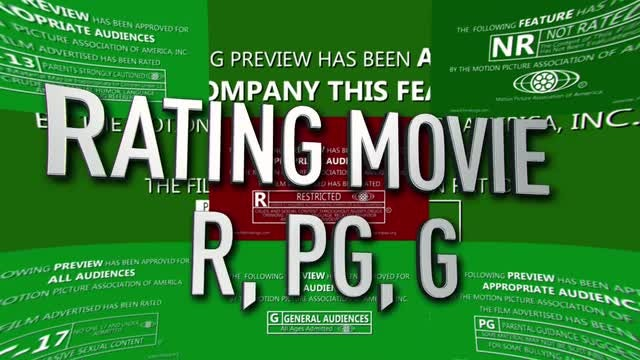 Green screen Opening for Movie R, PG, G: After Effects Templates