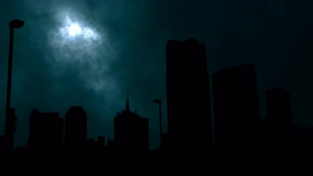 The City Under The Moon Sky: Stock Motion Graphics