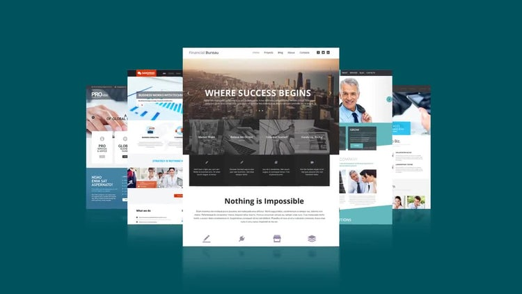 Website Short Presentation: After Effects Templates