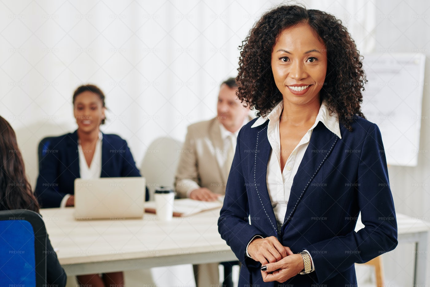 Confident Smiling Businesswoman: Stock Photos