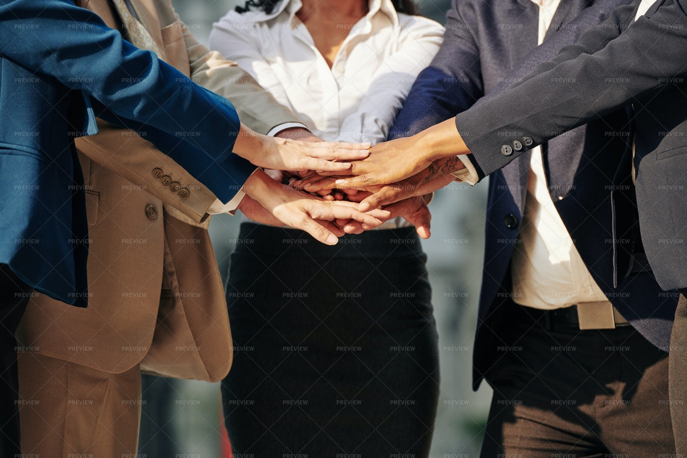 Business Team Stacking Hands: Stock Photos