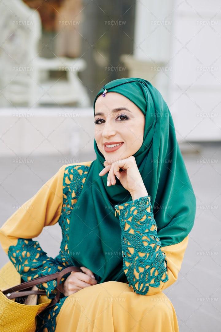 Woman With Hijab Smiling: Stock Photos