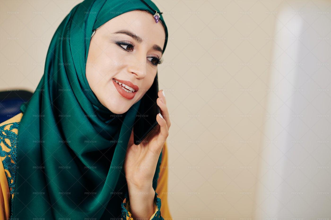 Woman Making Phone Call: Stock Photos