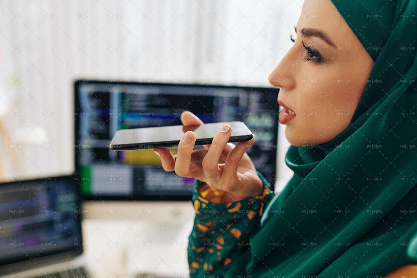 Recording Voice Message: Stock Photos