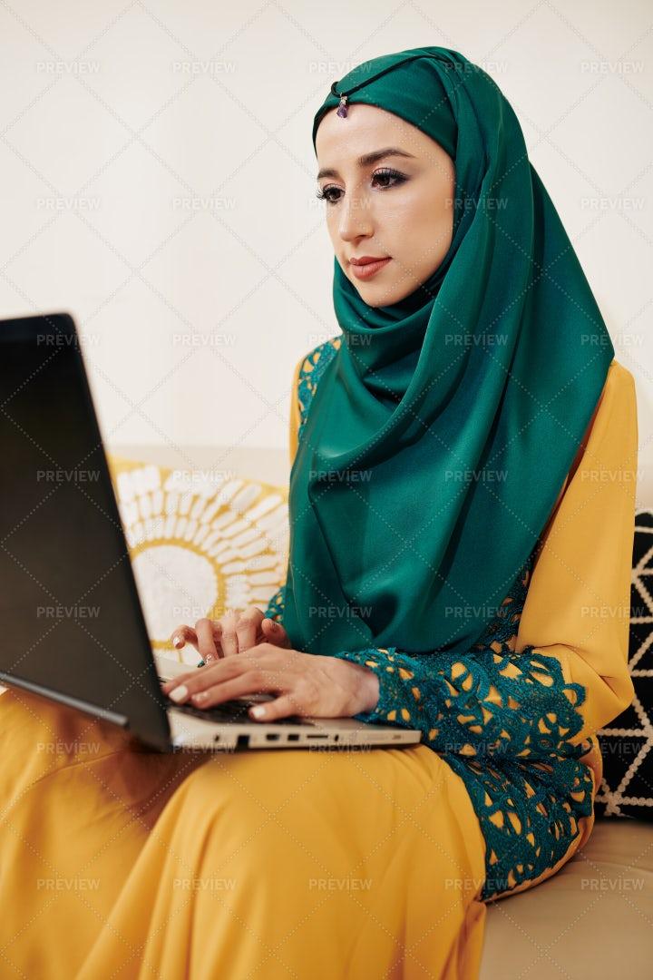 Woman On A Laptop: Stock Photos