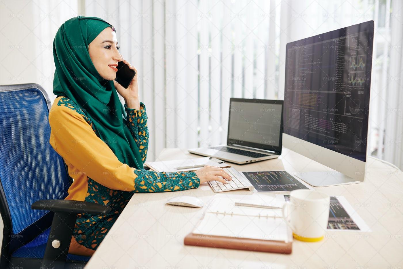 BusinessWoman On The Phone: Stock Photos