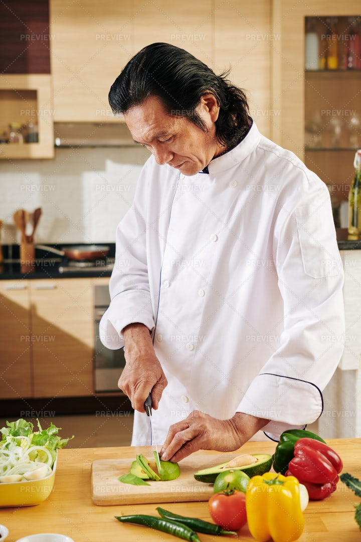 Chef Cooking Dinner: Stock Photos