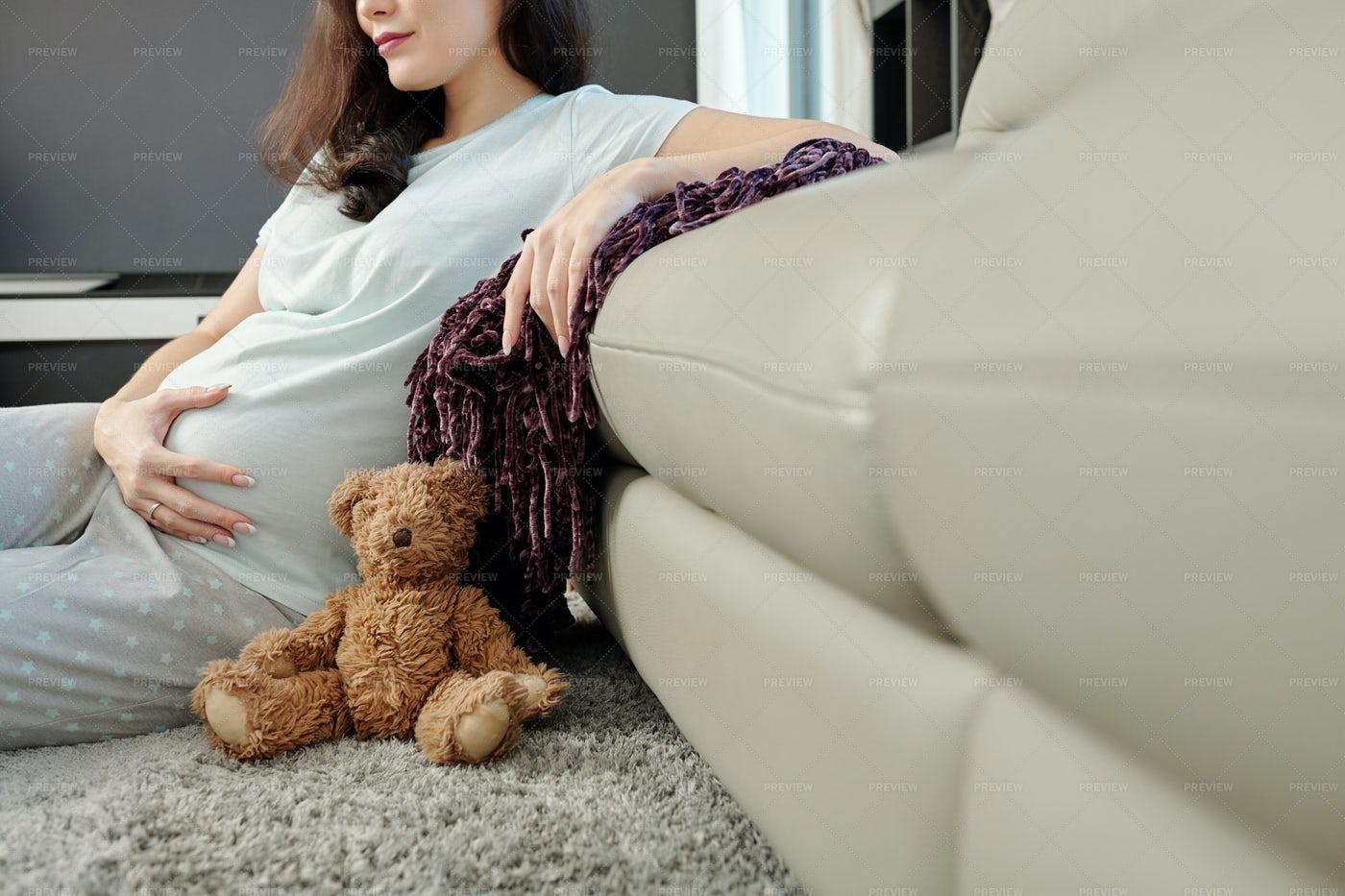 Young Woman Enjoying Her Pregnancy: Stock Photos