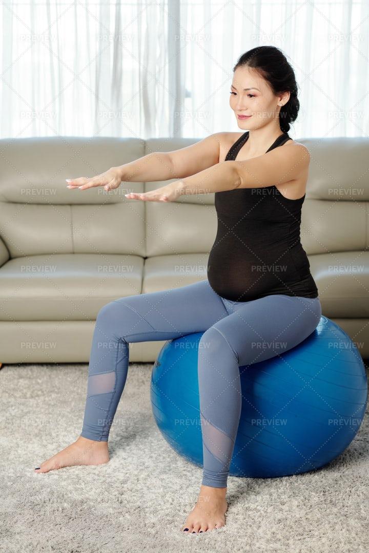Woman Doing Balance Exercise: Stock Photos