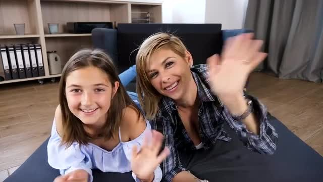 Mother And Daughter Video Chatting: Stock Video