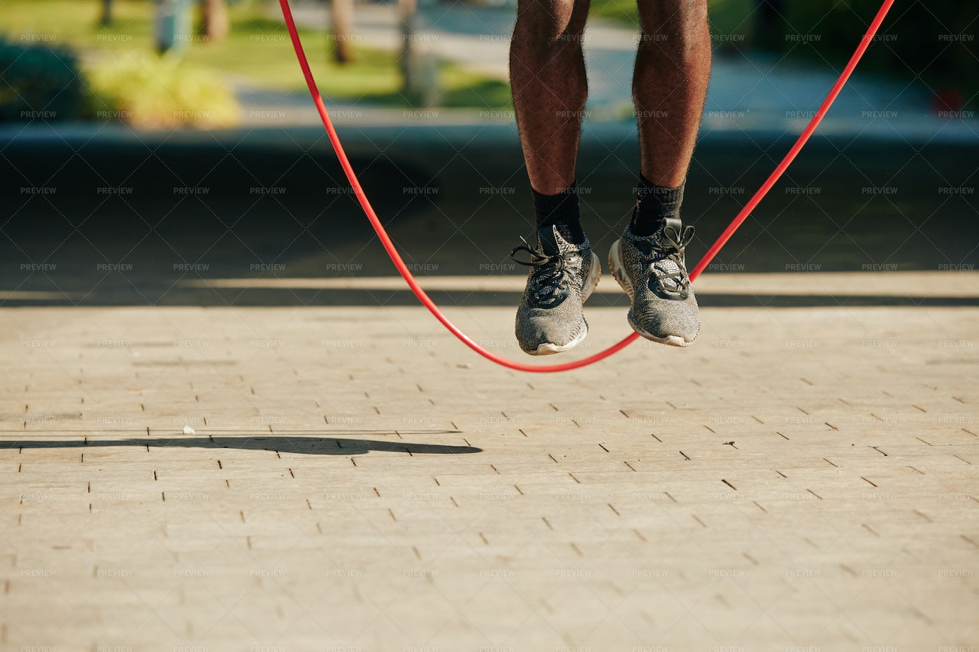 Jumping With Skipping Rope: Stock Photos