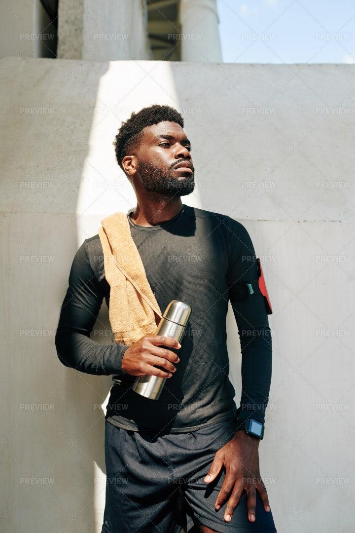 Portrait Of A Sportsman: Stock Photos