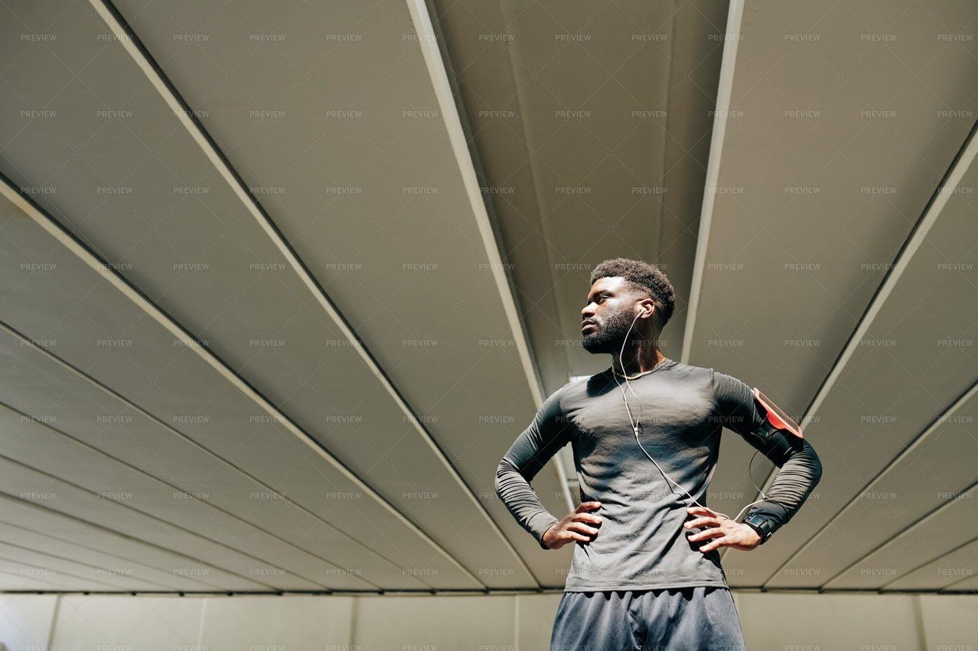 Muscular Sportsman: Stock Photos