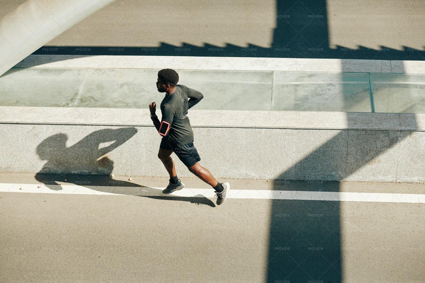 Man Running In The Morning: Stock Photos