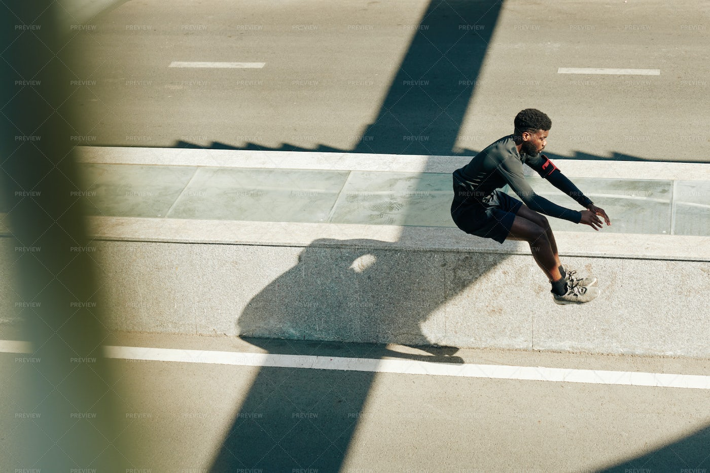 Athlete Doing Jumping Exercise: Stock Photos