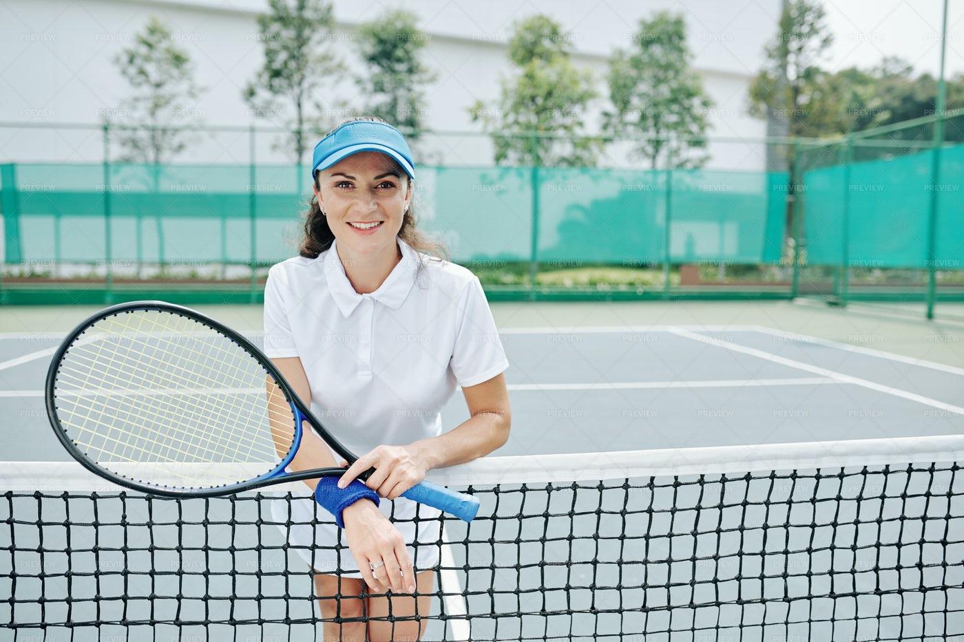 Portrait Of Tennis Player: Stock Photos
