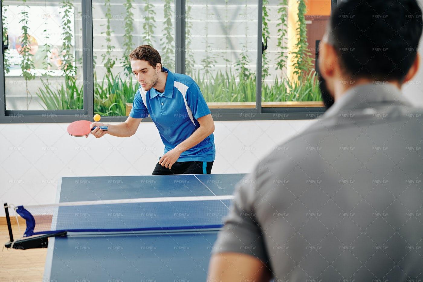 Men Playing Table Tennis: Stock Photos