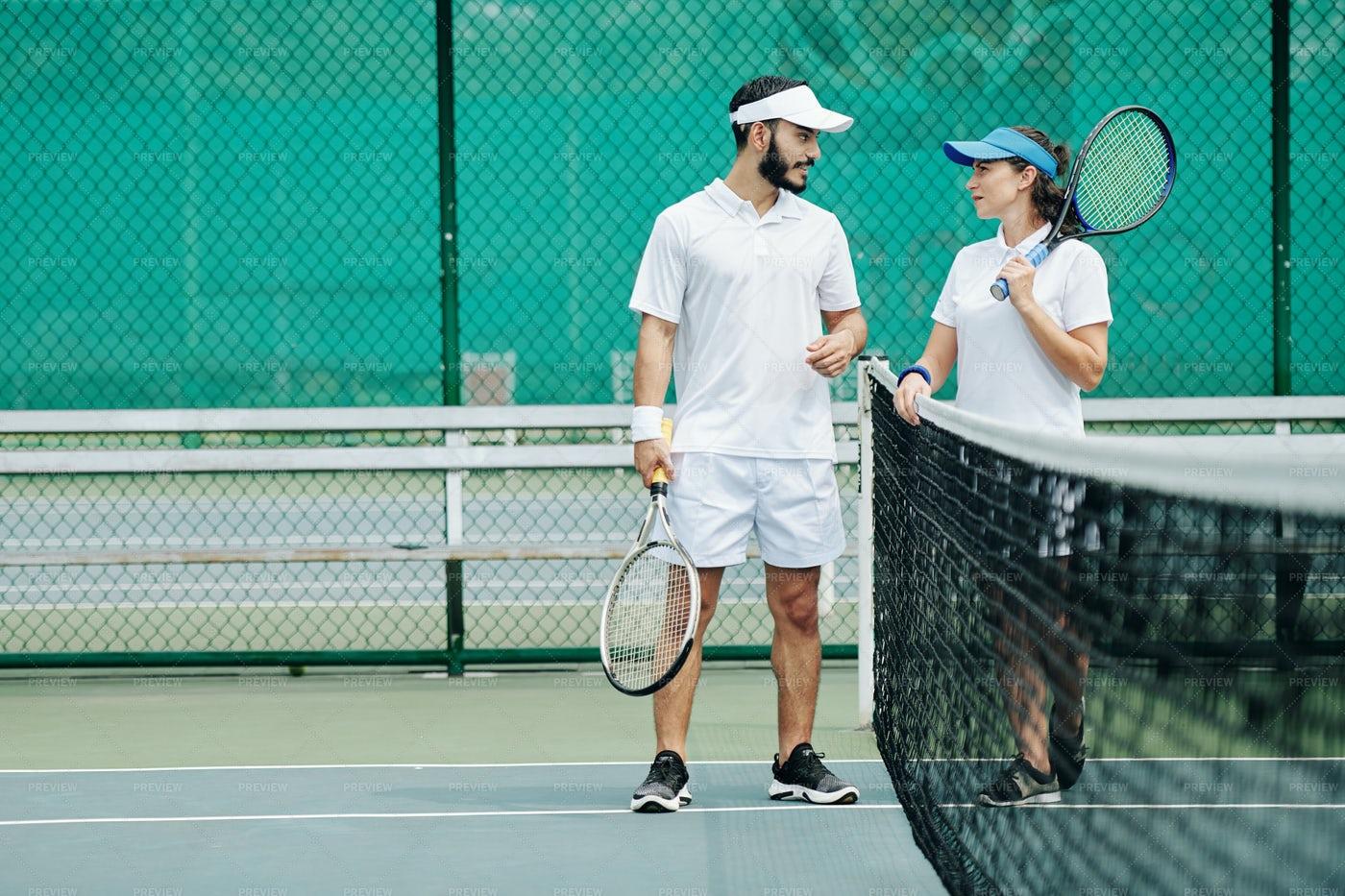 Couple Plying Tennis: Stock Photos