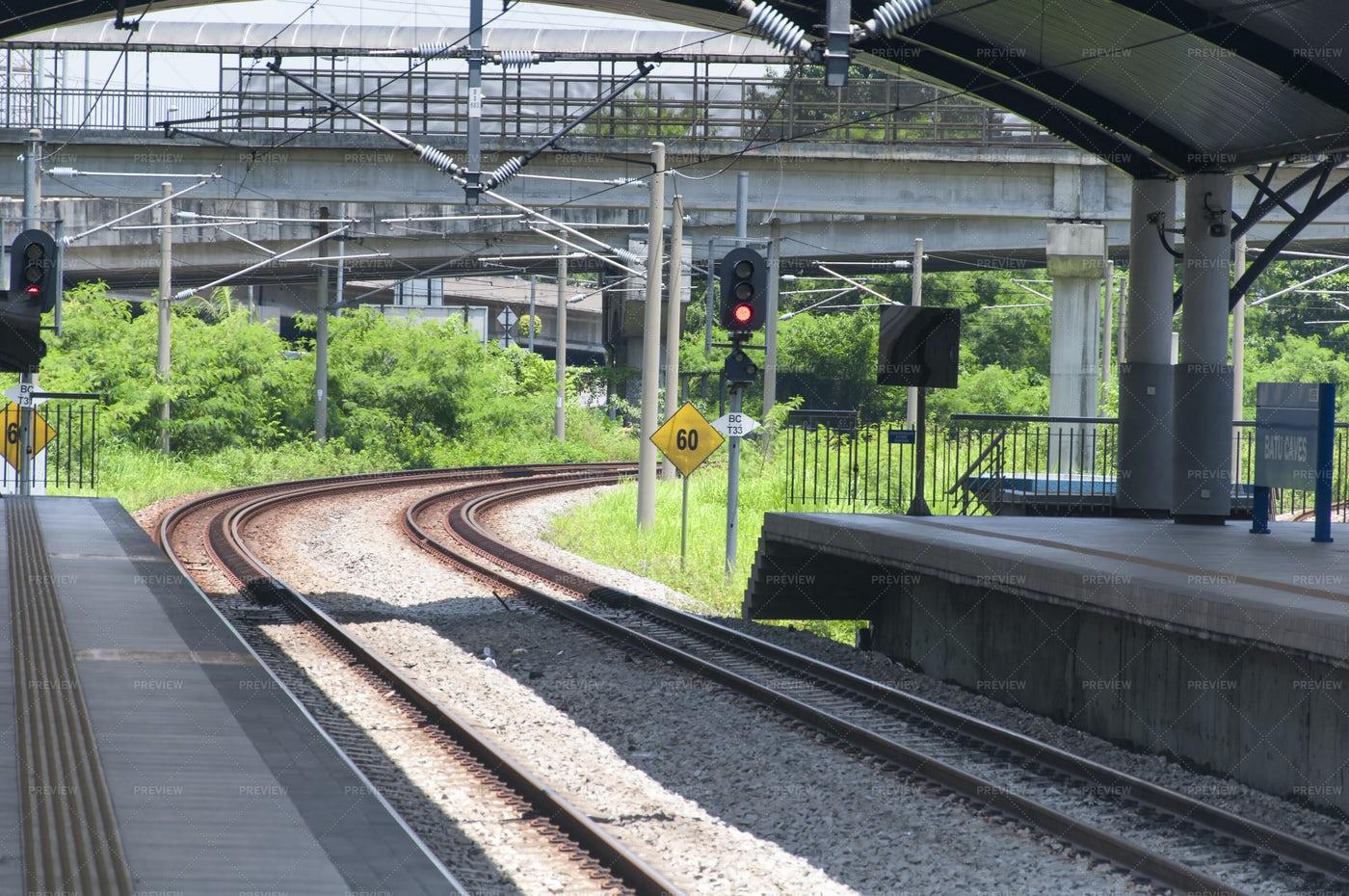 Train Platform In Malaysia: Stock Photos