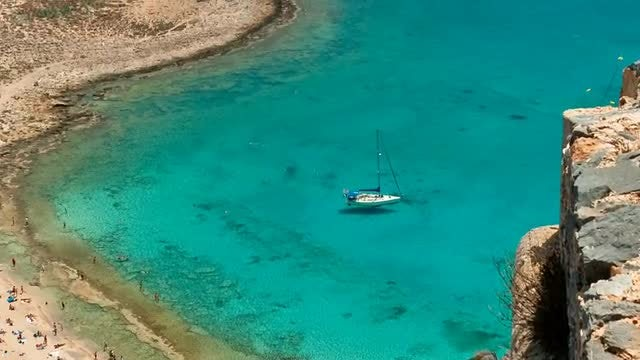 Aerial View of Greek Island: Stock Video