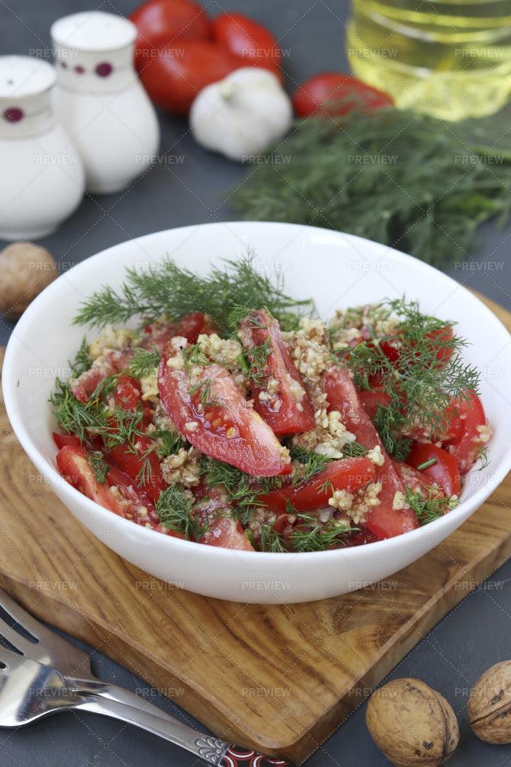 Fresh Tomato Salad: Stock Photos
