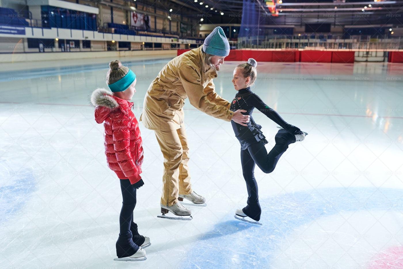 Training Girl Skaters: Stock Photos
