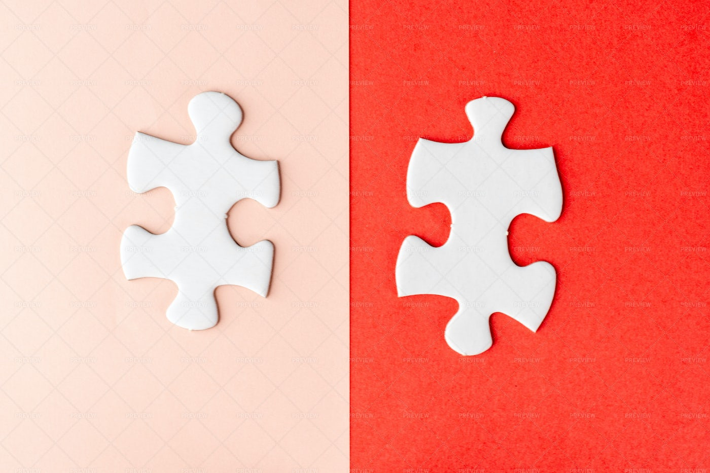 Two Pieces Of Jigsaw Puzzle: Stock Photos