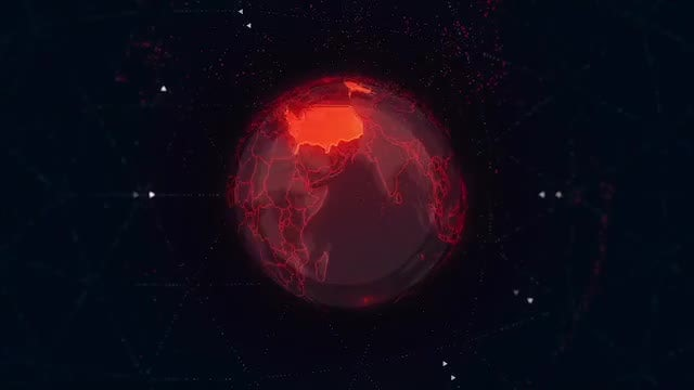 Pack Of USA Map On The Earth: Stock Motion Graphics