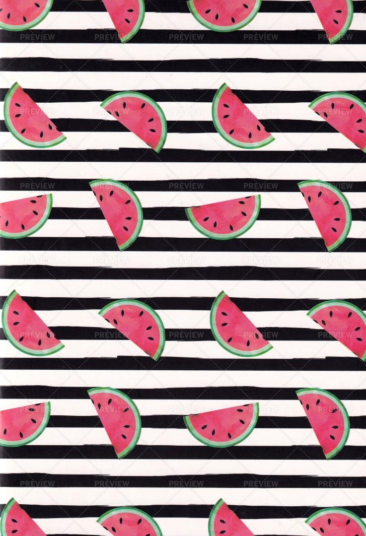 Watermelon Pattern: Stock Photos