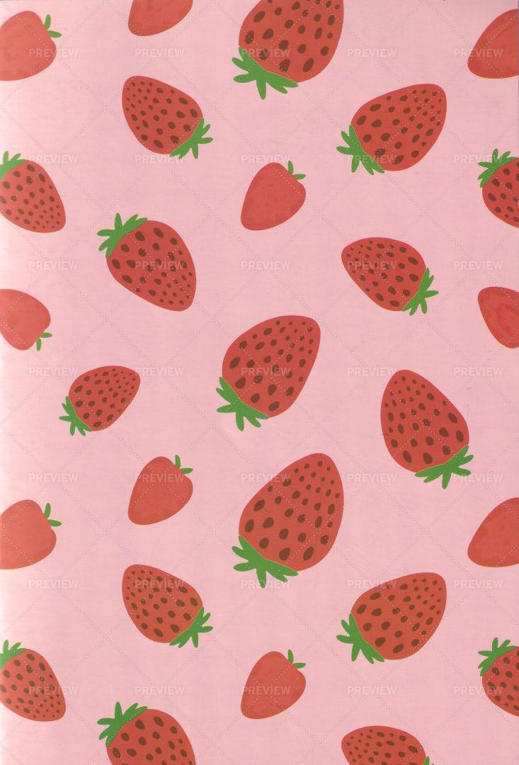 Strawberries Notepad Pattern: Stock Photos