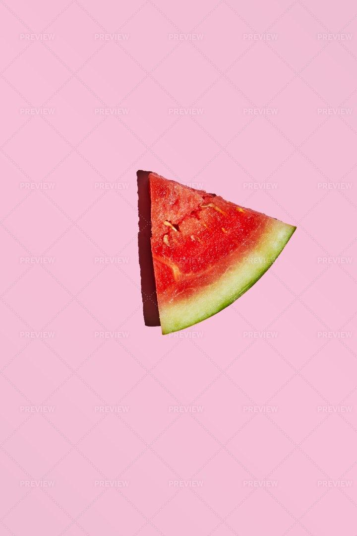 Slice Of Mini Watermelon Isolated: Stock Photos