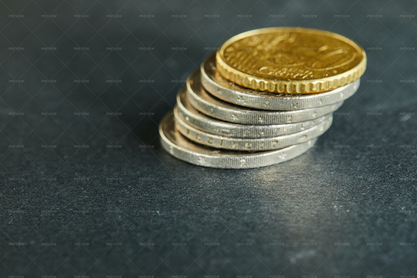 Coins Stacked On Each Other: Stock Photos