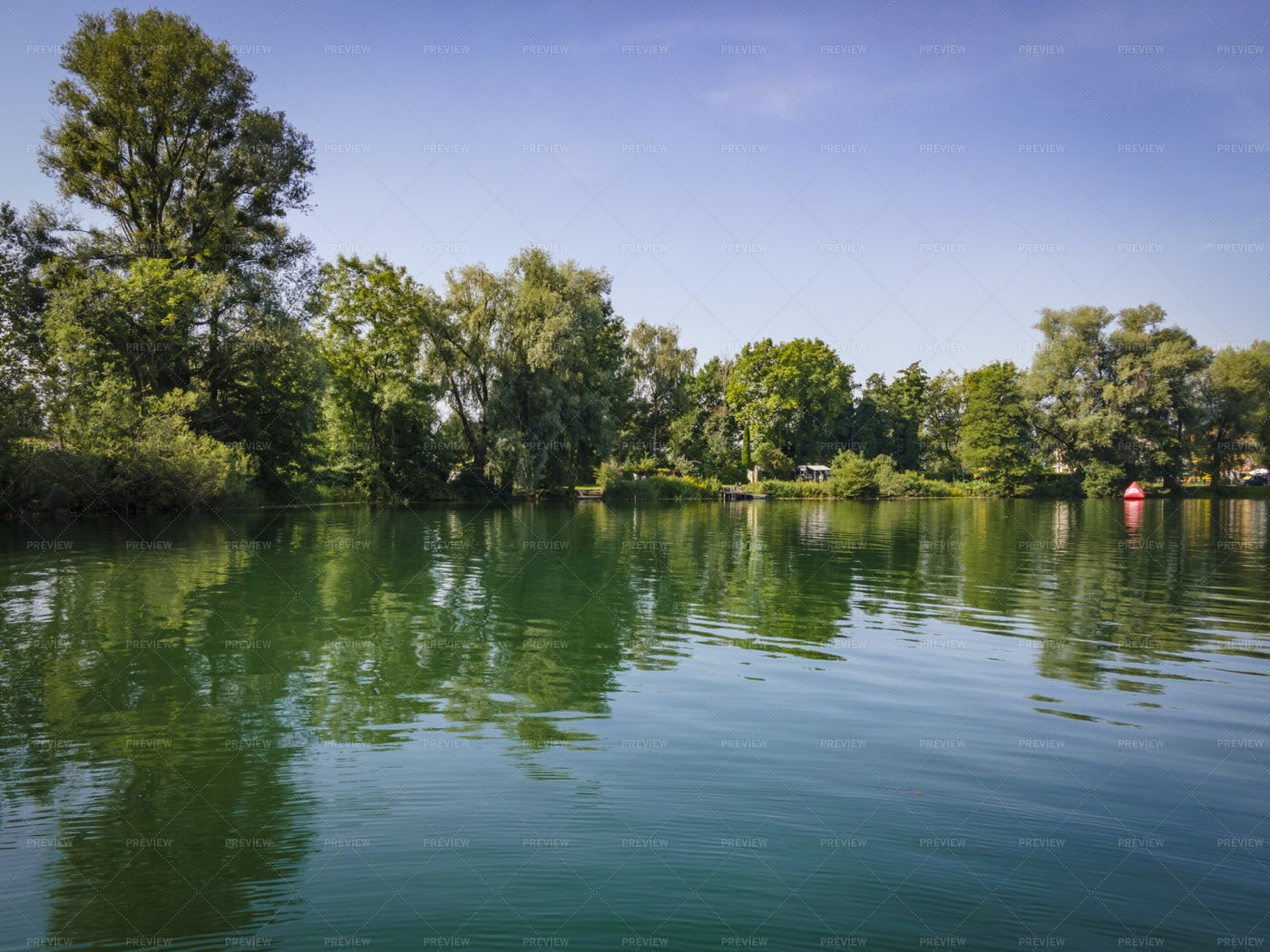 Jannersee Lake And Reflection: Stock Photos