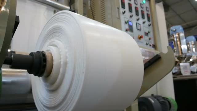 Production Of Polyethylene Tape: Stock Video