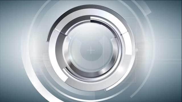 Interlocking Silver Arcs Modern Background: Stock Motion Graphics