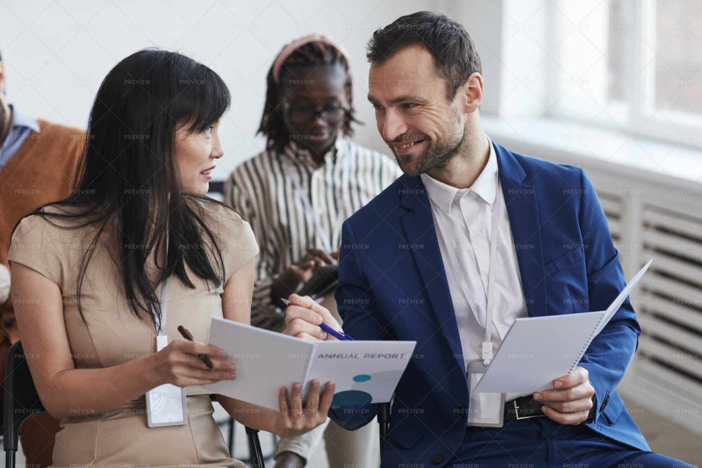 Business Partners At Conference: Stock Photos