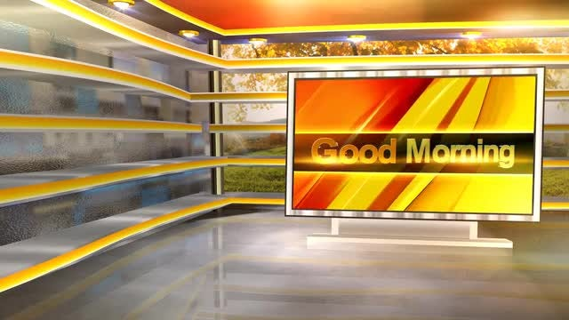 Good Morning Virtual Set: Stock Motion Graphics
