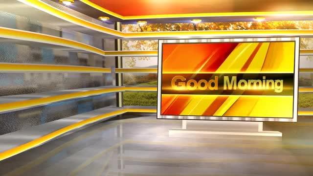 Good Morning Virtual Set: Stock Motion Graphics