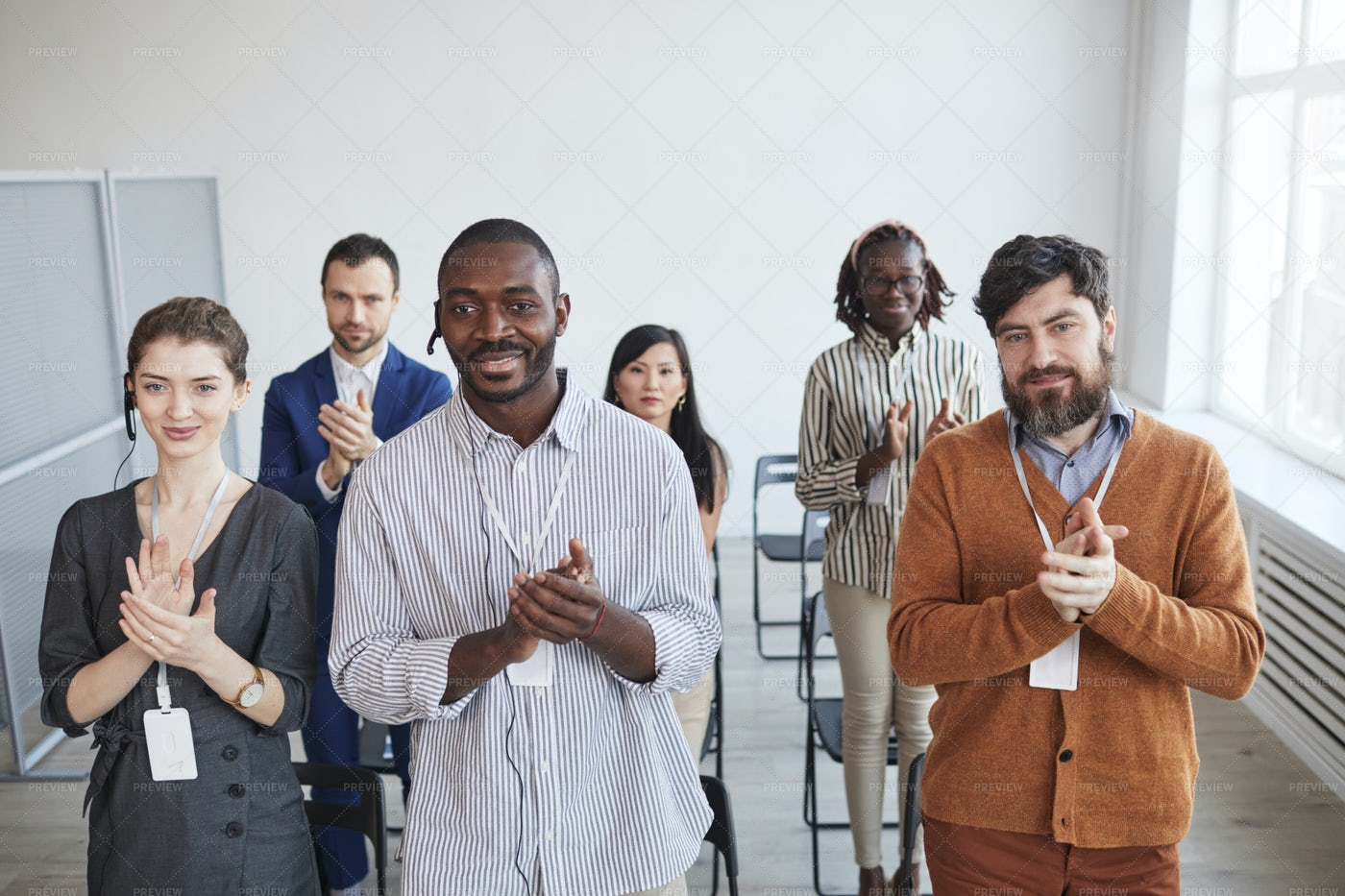 Standing Applause At Conference: Stock Photos