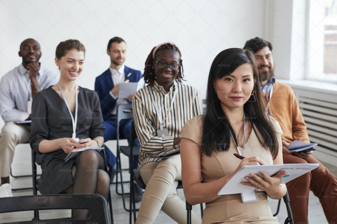 Group Of Smiling Business People: Stock Photos