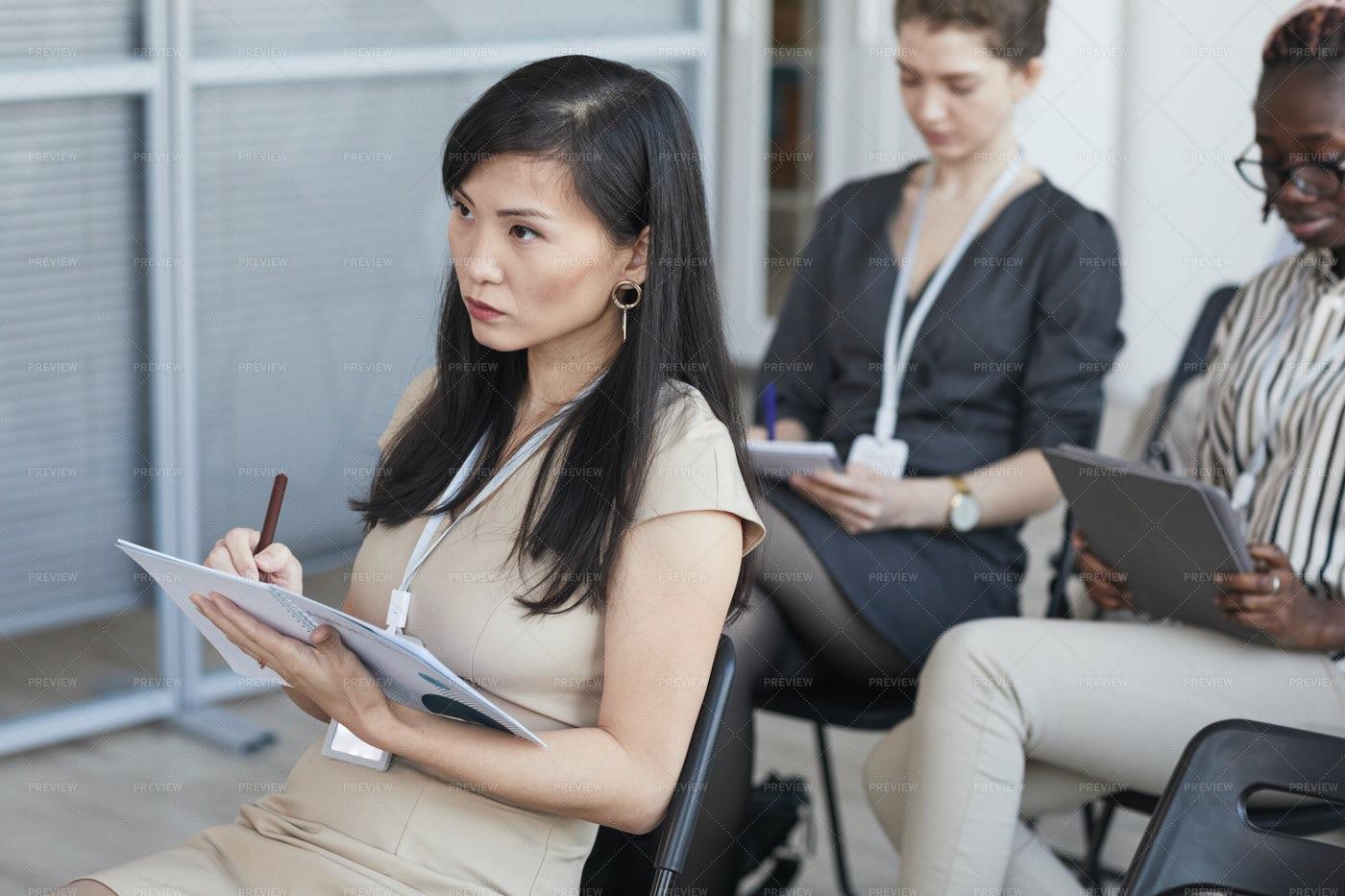 Woman At Business Meeting: Stock Photos