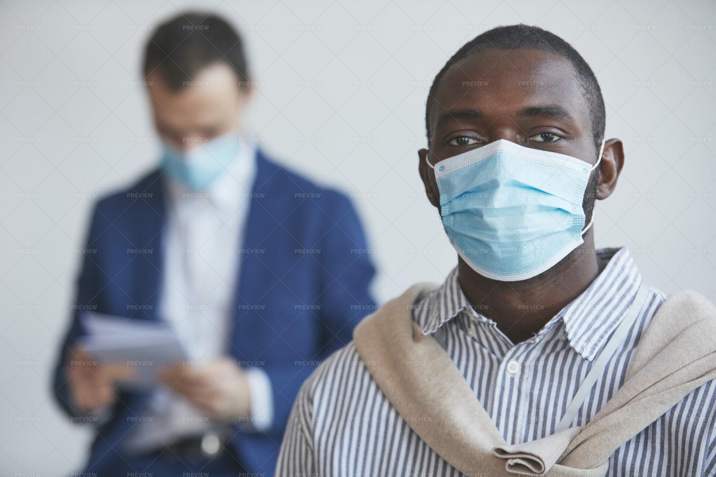 Man Wearing A Mask: Stock Photos