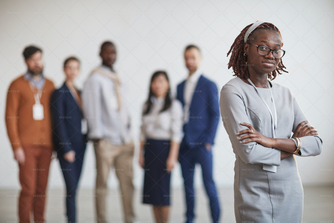 Woman Leader With Team: Stock Photos