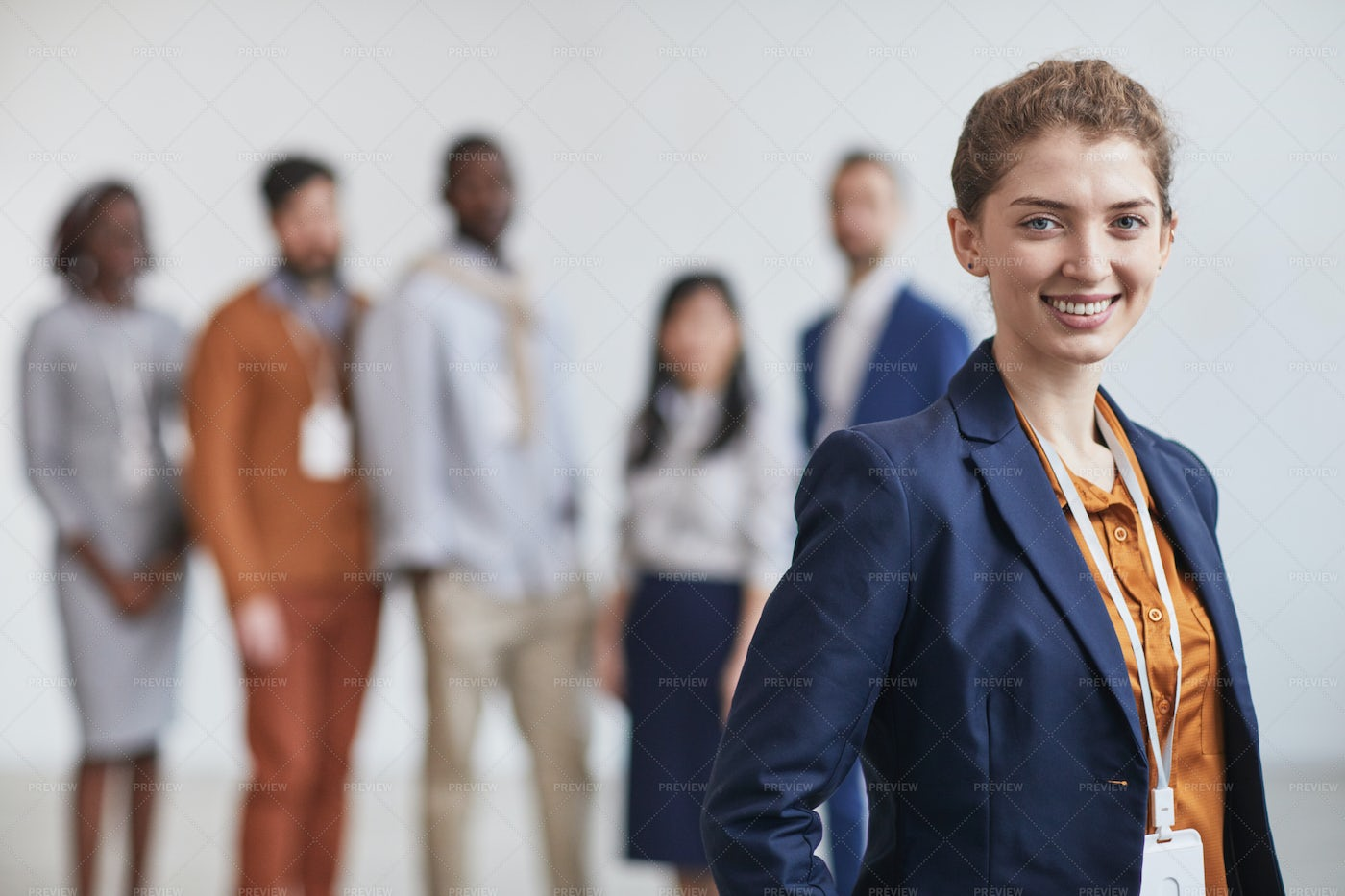 Leader With Business Team: Stock Photos