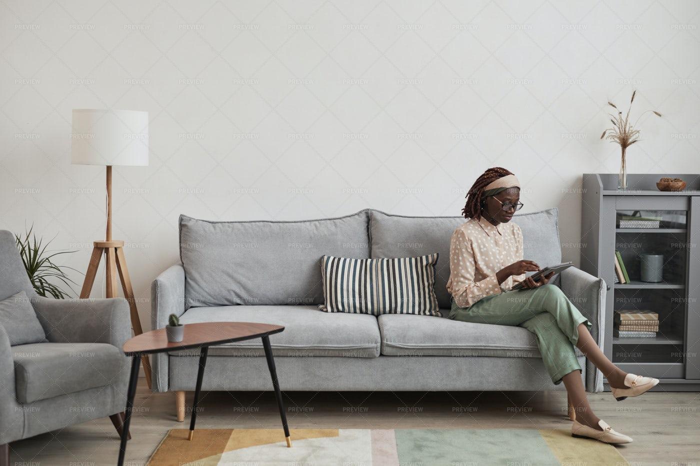 Woman At Home: Stock Photos