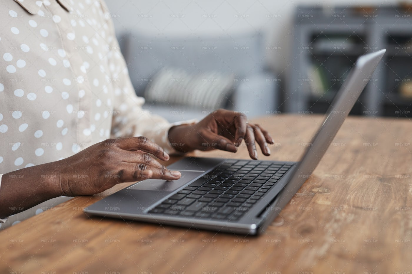 Typing On A Laptop: Stock Photos