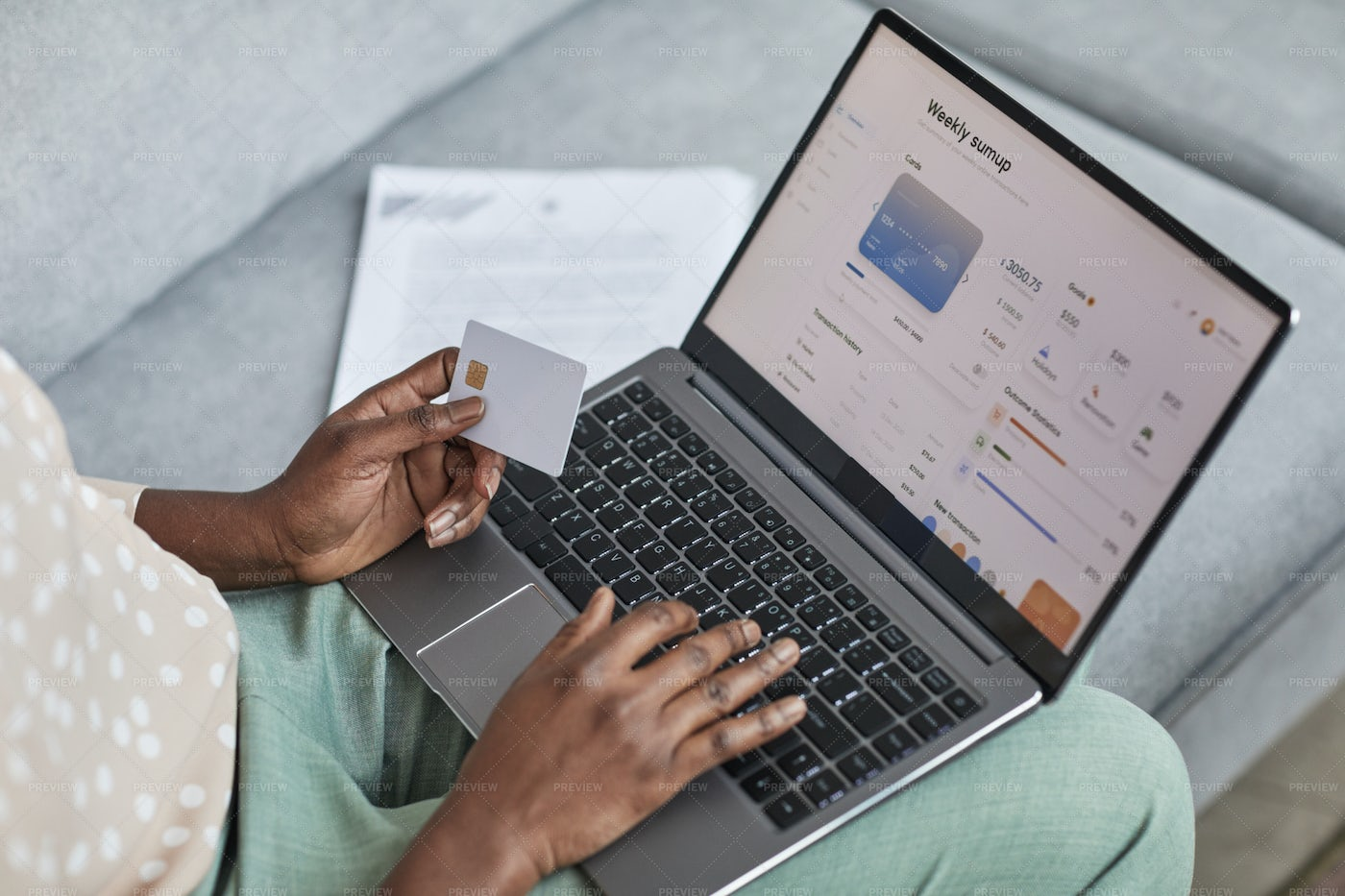 Woman Paying Online: Stock Photos